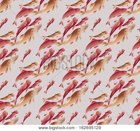 vector illustration of koi fish pattern in natural elegant color