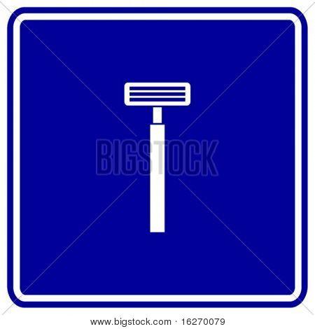 shaving razor sign