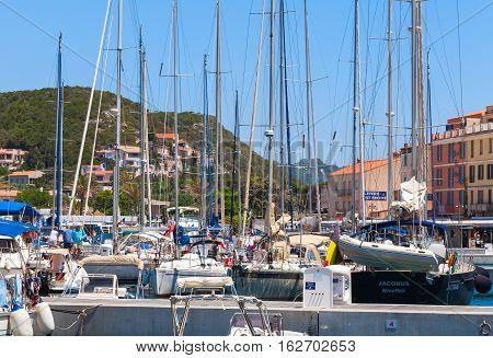 Pleasure Motorboats And Sailing Yachts