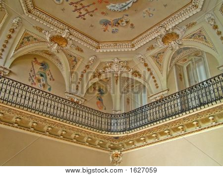 Balcony And Ceiling In Classic Style