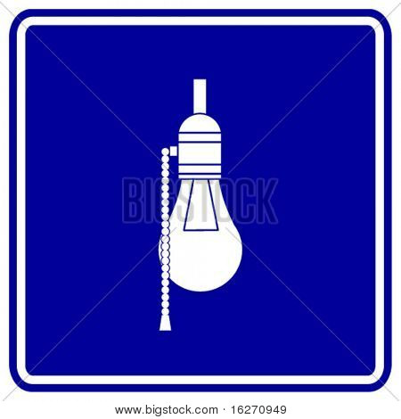bulb lamp sign
