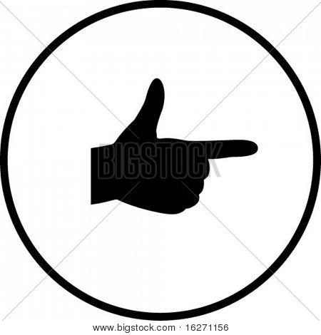 hand gun or pointing symbol