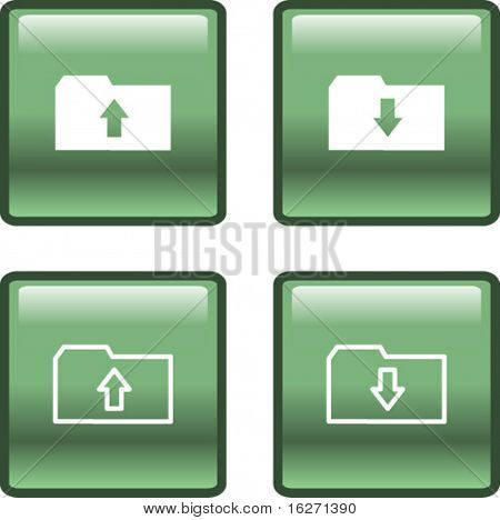 upload and download data transfer buttons