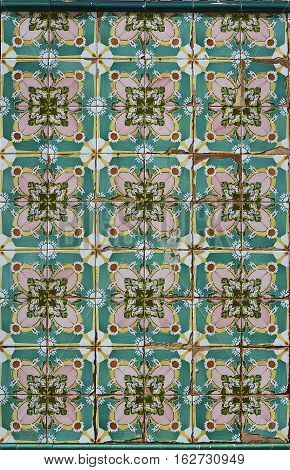 Tiled Wall Background.