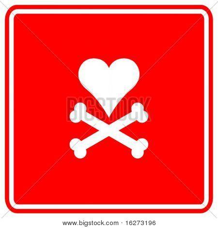 heart and bones sign
