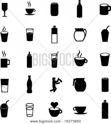 beverages icon set