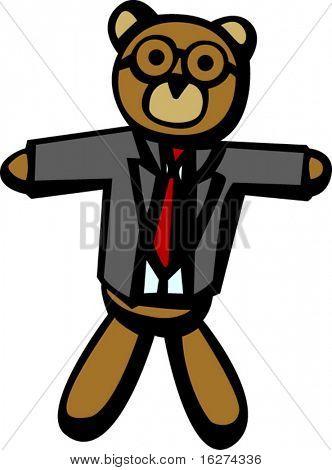 business dressed bear
