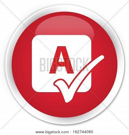Spell Check Icon Premium Red Round Button