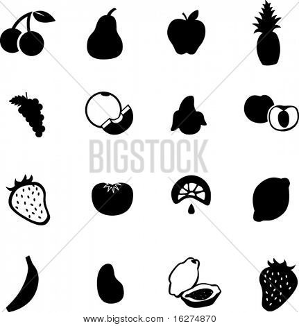 fruit symbol set