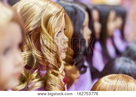 Many Dolls,  Selective Focus With Shallow Depth Of Field.