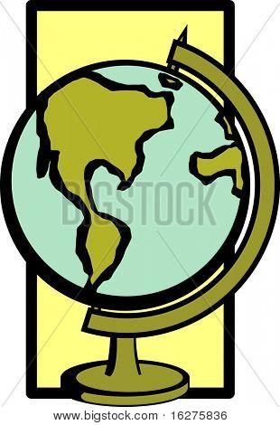 globo de agua de la tierra
