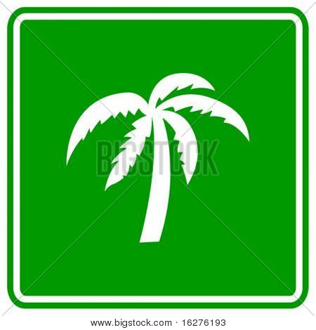 palm tree sign