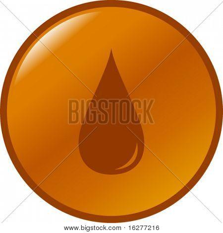 botón de gota de gasolina o diesel