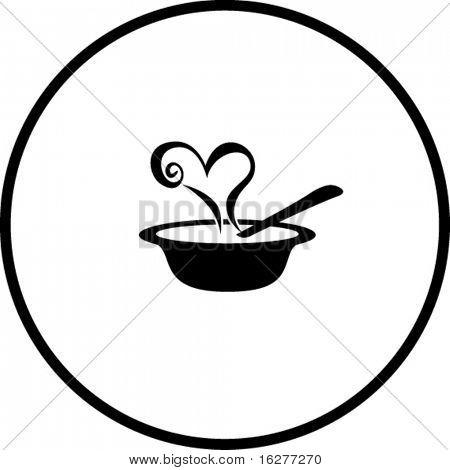 Liebe Suppe symbol