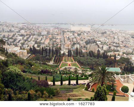 Haifa. panoramische Ansicht der Stadt Haifa in israel