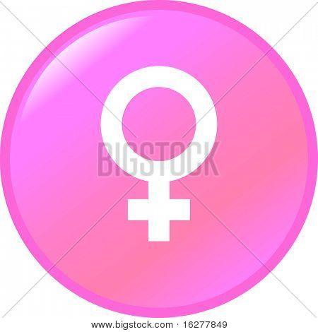 female gender symbol button