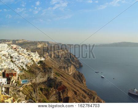 View Of Fira In Santorini A Greek Island