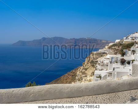 Amazing View Of Fira Village At Santorini