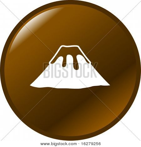 volcano mountain button