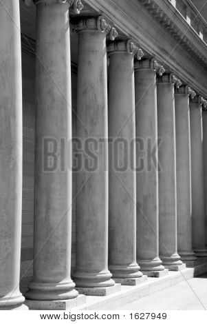 Ionic Columns (Black And White)