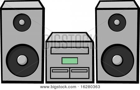 stereo music system