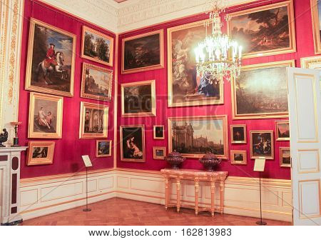 Gatchina, Russia - 3 December, The paintings in the throne of Maria Feodorovna, 3 December, 2016. Visit the Museum Reserve Gatchina Palace.
