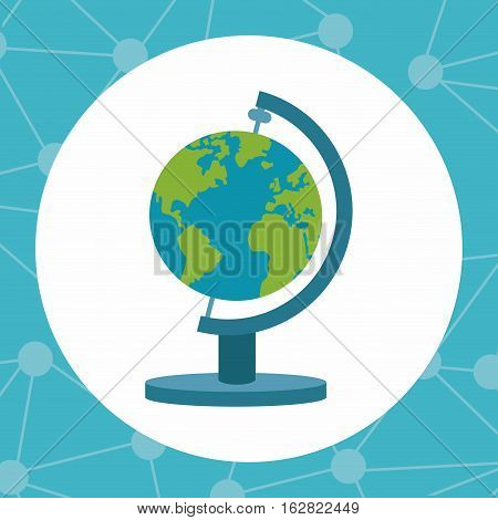 Planet sphere icon. Science laboratory chemistry and research theme. Colorful design. Vector illustration