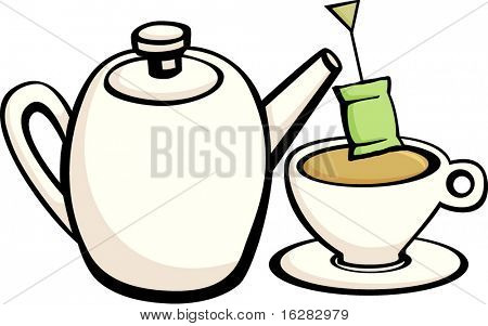 tea kettle and cup