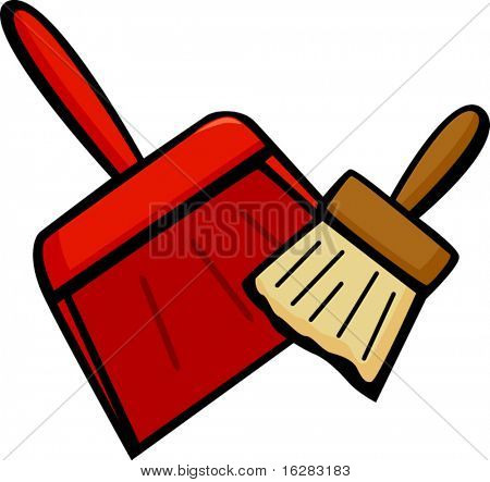 dustpan and sweeping brush
