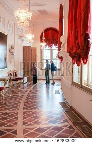 Gatchina, Russia - 3 December, Visitors to the Gatchina Palace, 3 December, 2016. Visit the Museum Reserve Gatchina Palace.