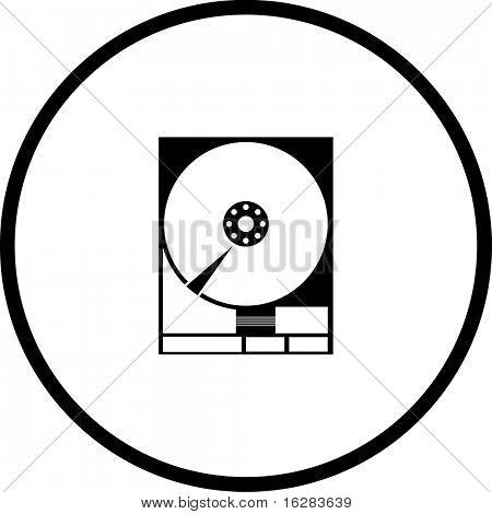 hard drive symbol