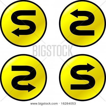 s turn arrow buttons