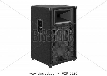 Speaker audio sound system for concert and party. 3D rendering