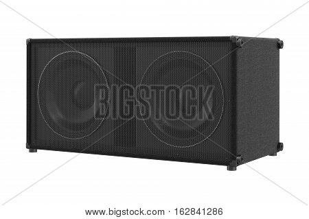 Speaker audio loud sound powerful stereo. 3D rendering