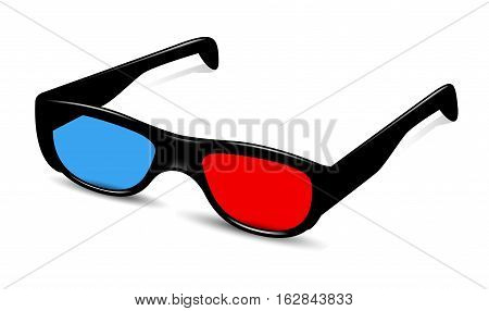 Vector Illustration of 3D Glass. Best for Electronics, Technology, Computers, Film concept.