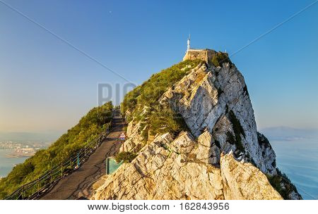 View of the Rock of Gibraltar, a British overseas territory