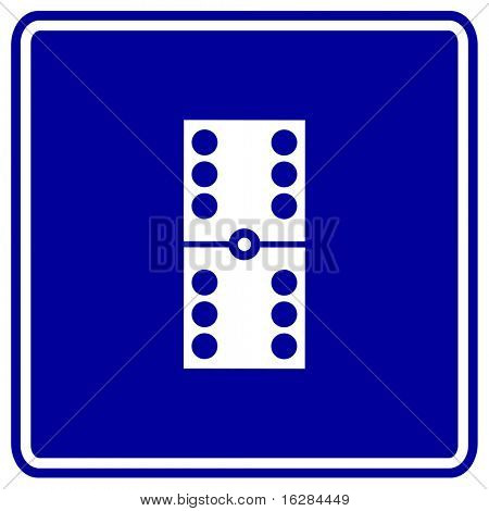 dominoes sign