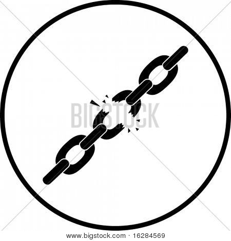 chains breaking symbol