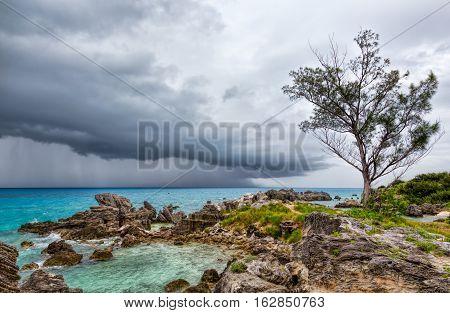 Thunderstorm at Tobacco Bay Beach, St. George's Bermuda