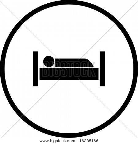 sleeping in bed symbol
