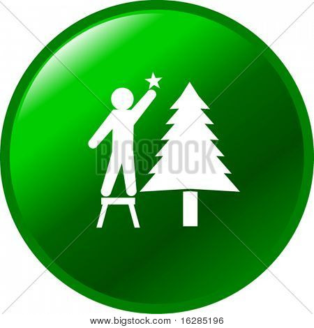 placing a star in a christmas tree button