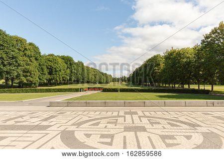 Park in Oslo in Norway in Europe
