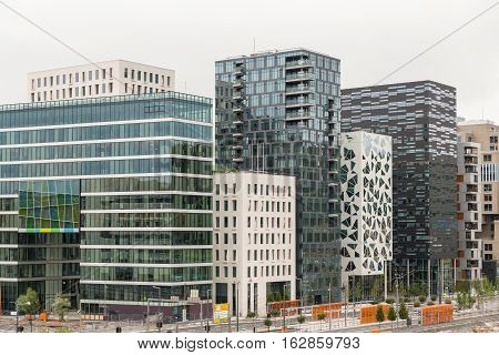 Downtown Oslo skyline in Norway in Europe