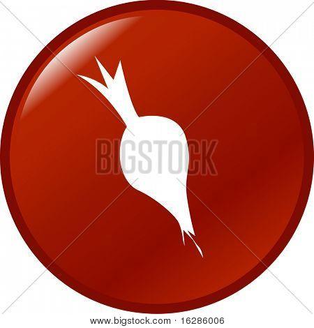 botão de beterraba