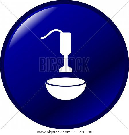 electric hand blender or mixer and bowl button