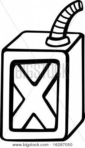 recipiente de combustible