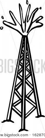 Torre de perforación de petróleo