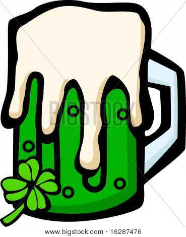 green beer in mug