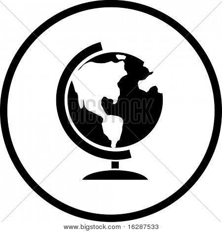 símbolo de globo de tierra