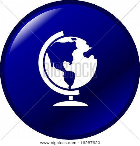 earth globe button